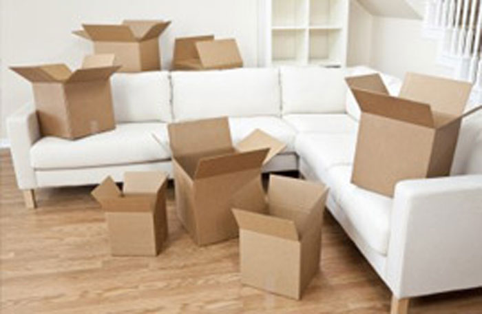 Image of packaging boxes for moving houses